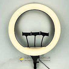 Кільцева лампа 45 см зі штативом на 2м лампа для селфи лампа для твк струму, фото 2
