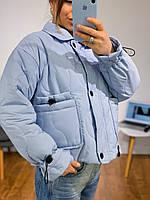 Женская стеганная куртка-жакет