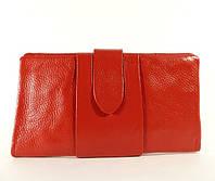 Купюрник кожаный женский красный 023