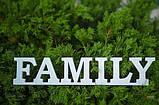 Слово Family заготовка для декора, фото 5