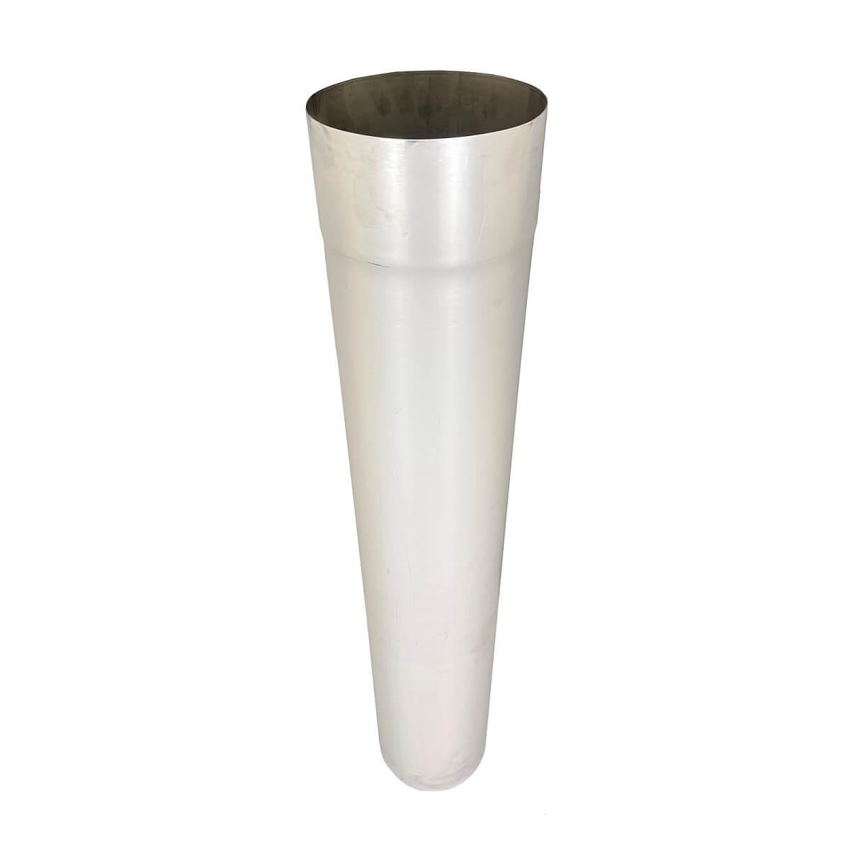Труба для дымохода L-1 м D-130 мм толщина 0,8 мм
