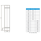 Труба для дымохода L-0,3 м D-150 мм толщина 0,8 мм, фото 2