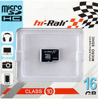 Карта памяти micro SDHC Hi-Rali 16GB class 10 (без адаптера)