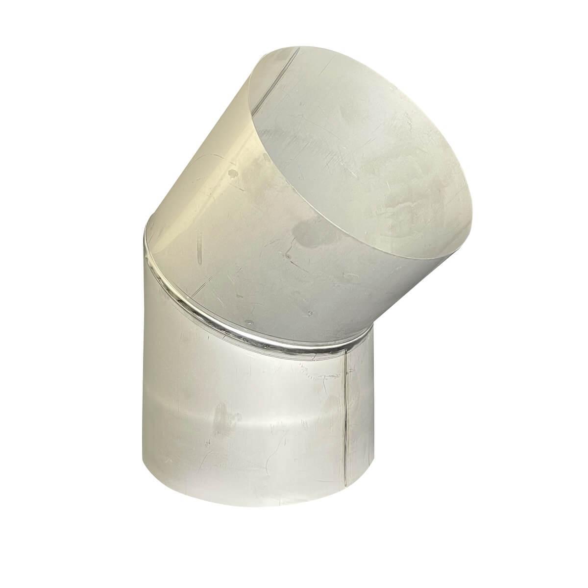 Отвод 45° для дымохода D-110 мм толщина 0,6 мм