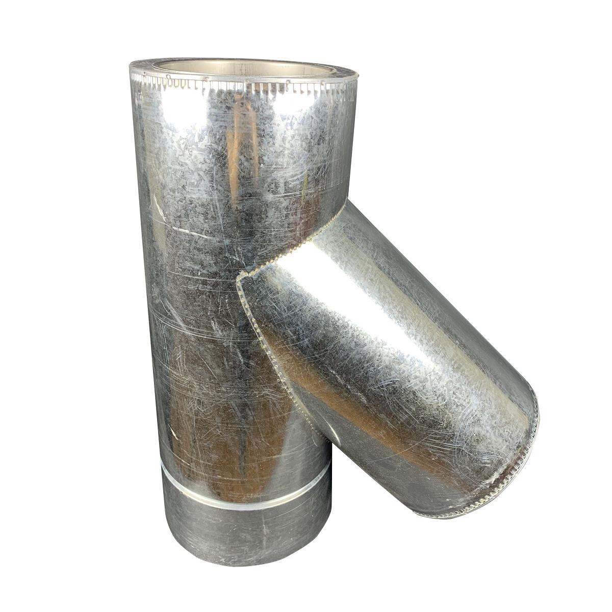 Фабрика ZIG Трійник 45° для димоходу ø 180/250 н/оц 1 мм