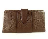 Купюрник кожаный женский коричневый 023