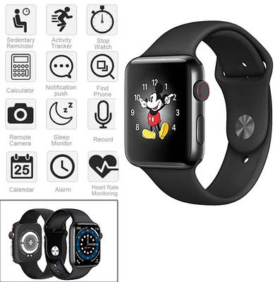 Смарт-годинник Smart Watch T500 Plus, ЕКГ браслет Повідомлення про вхідні дзвінки й SMS Чорний