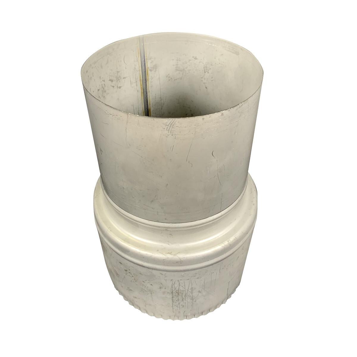 Фабрика ZIG Перехід для димоходу нержавіюча сталь D-230 мм товщина 0,8 мм