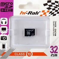 Карта памяти micro SDHC Hi-Rali 32GB class 10 (без адаптера)
