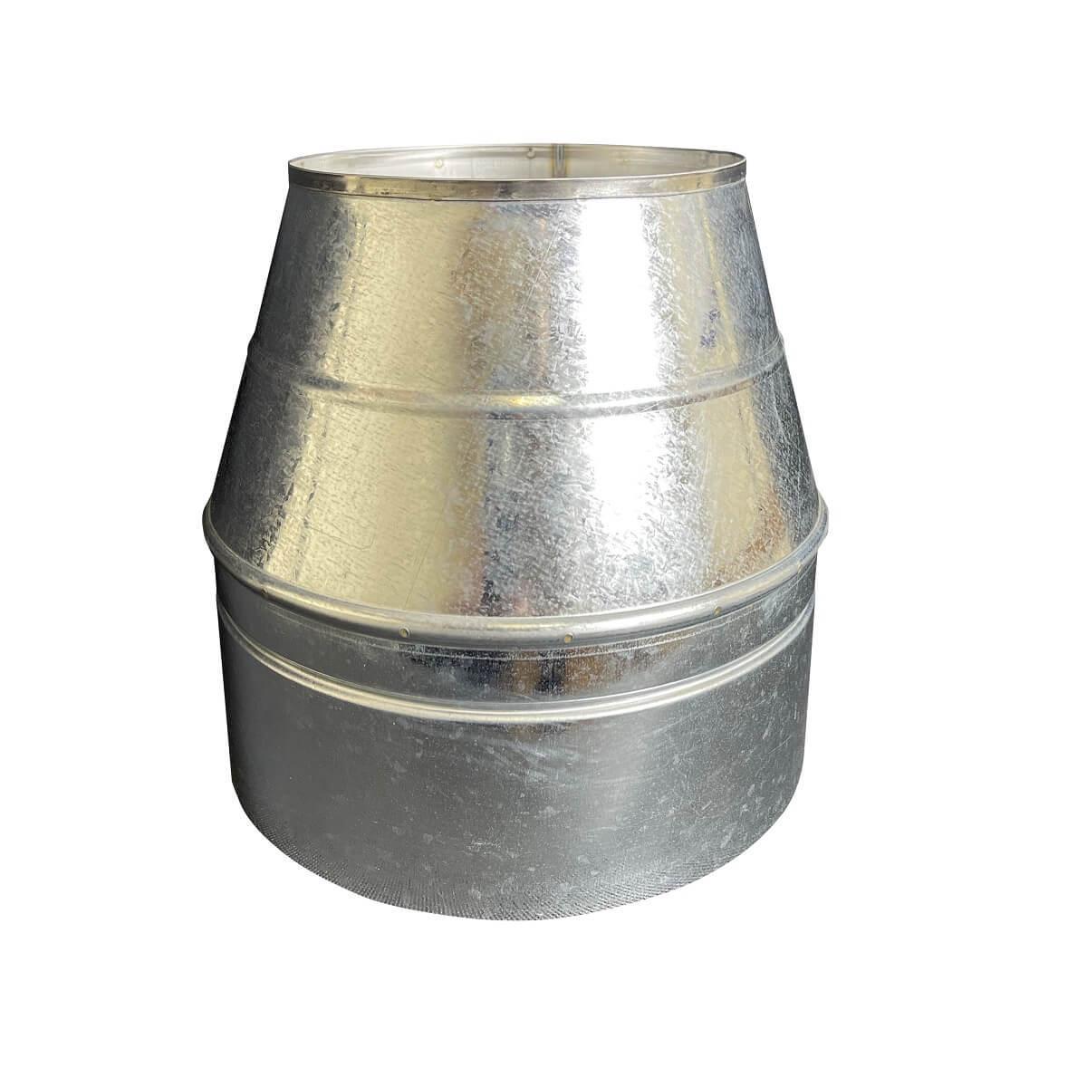 Конус дымоходный ø 130/200 нерж/оцинк 0,6 мм
