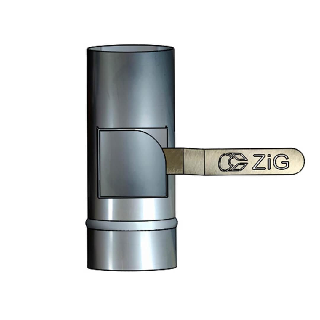Регулятор тяги - кагла поворотна D-140 мм товщина 0,8 мм