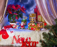"""Слово """"NEW YEAR"""" (длина слов 41,1см, 38,3см.)"""