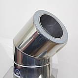 Отвод 45° для дымохода ø 180/250 н/н 0,6 мм, фото 2