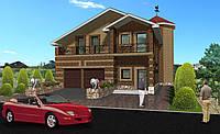 Проект дома  MS104 с мансардой и с гаражом