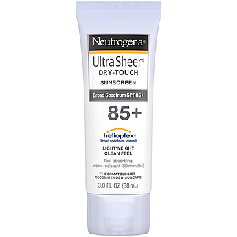 Ультралёгкий солнцезащитный крем SPF 85+ Neutrogena Ultra Sheer Dry-Touch Sunscreen 88 мл