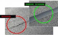 Битумно-каучуковая лента для ремонта трещин на асфальтовом покрытии СтройБанд W