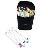 Набор скетч маркеров 36 шт для рисования фломастеры для рисования спиртовые двухсторонние белые, фото 4