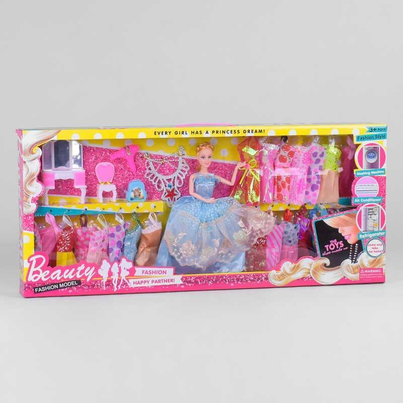 Лялька з нарядом 662-4 (18/2) меблі, аксесуари, в коробці