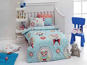 Постільна білизна дитяча для немовлят Baykus A. mavi блакитний ТМ EPONJ HOME