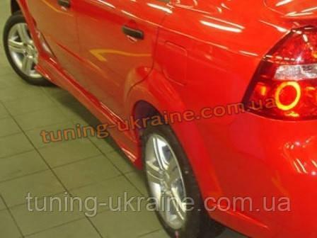 Пороги TS на Chevrolet Aveo 2 2006-11