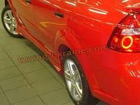 Пороги TS на Chevrolet Aveo 2 2006-11 , фото 1