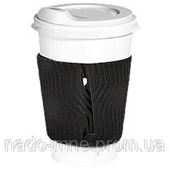 Термопояс черный (термодержатель, капхолдер) для бумажного стакана клееный (упаковка 100шт.)