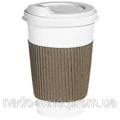 Термопояс крафт (термодержатель, капхолдер) для бумажного стакана клееный (упаковка 100шт.)