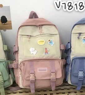 Рюкзак шкільний рожевий модний тканинний 45*30 см Mark