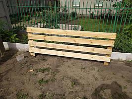 Забор деревянный оградка, 2000*1250*50мм, возможна бесплатная установка при условиях от 30 м.п