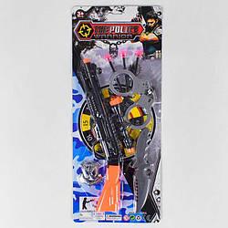 Военный набор 003-16 (120/2) 7 элементов, ружье, 3 пластиковых патрона на присоске, нож, наручники, аксессуар,