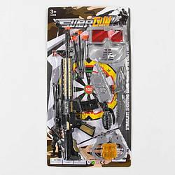 Военный набор 068-21 (102/2) 10 элементов, автомат, 3 патрона на присоске, нож, маска, наручники, аксессуары,