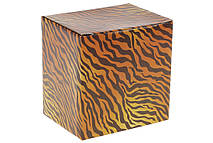 Кружка фарфоровая с золотой каймой Тигр 400мл