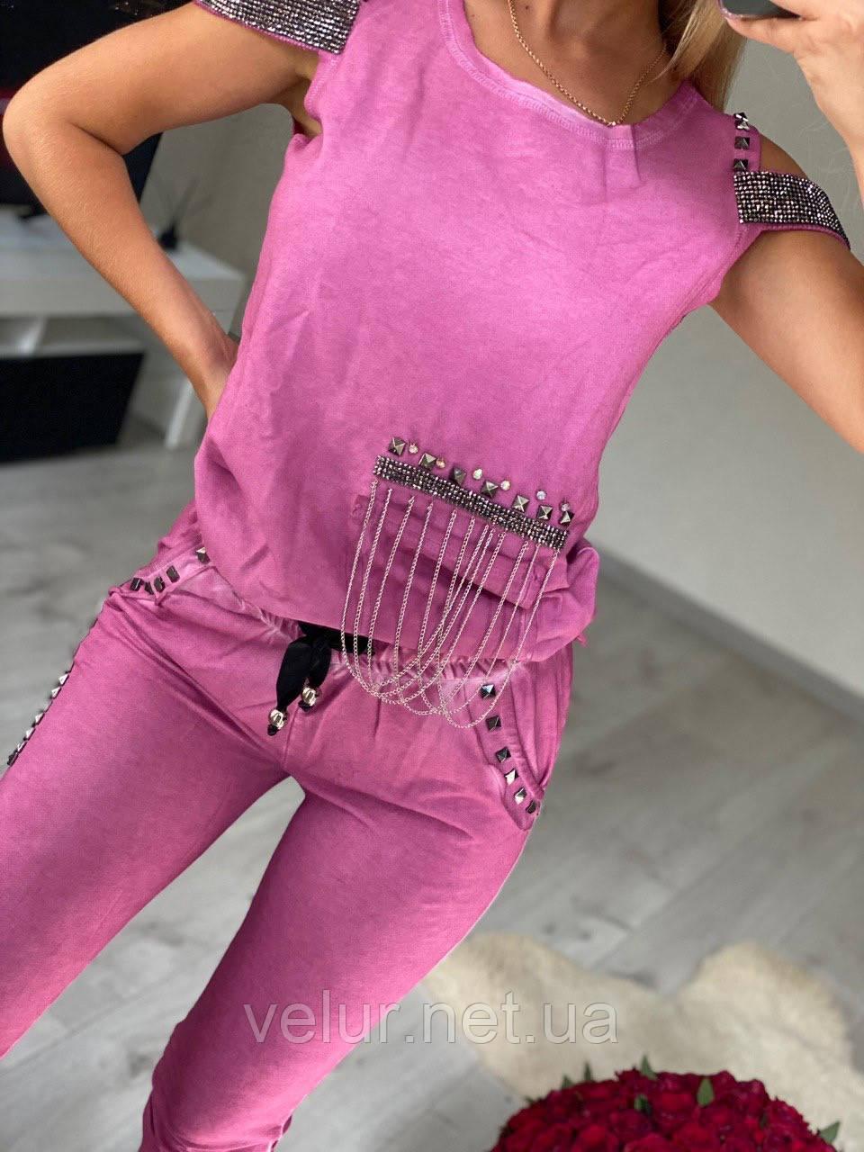 Жіночий трикотажний костюм (Туреччина); розміри S, M, 2 кольори.
