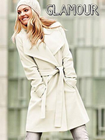 Женское пальто с поясом , фото 2