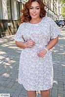 Легке літнє плаття вільного крою з штапелю з квітковим принтом р: 52, 54, 56, 58, 60, 62, 64, 66 арт. 427