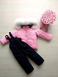 Зимние костюмы на мальчика и девочку с натуральным мехом, фото 4