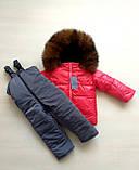 Зимние костюмы на мальчика и девочку с натуральным мехом, фото 8