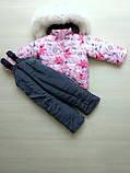 Зимние костюмы на мальчика и девочку с натуральным мехом, фото 9