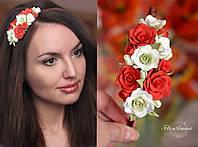 """""""Счастье"""" обруч/веночек с цветами ручной работы, фото 1"""