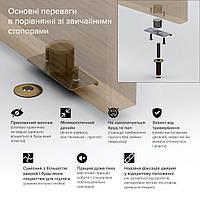 Скрытый стопор дверной магнитный Fantom Doorstop Premium 28 мм бронза (FDP2802)