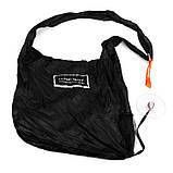 Складна компактна сумка-шоппер Чорна, фото 2