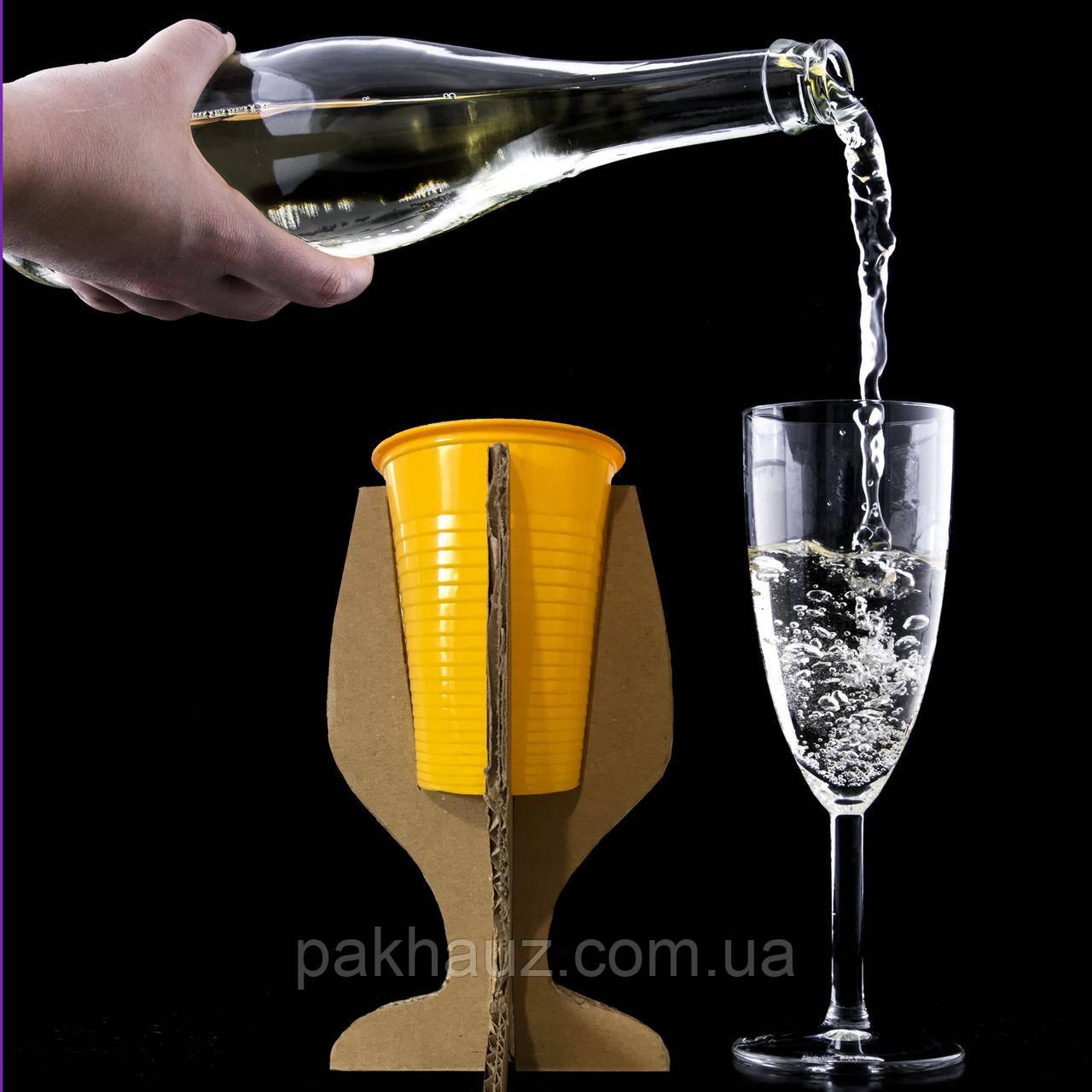 Картонна підставка для пластикових стаканчиків