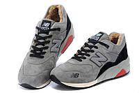 Зимние кроссовки New Balance 580 серые