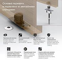Скрытый стопор дверной магнитный Fantom Doorstop Premium 28 мм серебряный (FDP2804)