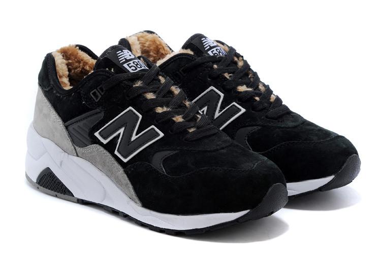 Зимние мужские кроссовки New Balance 580 черные  купить в ... 6062ecc42e1
