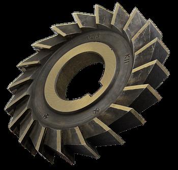 Фреза дисковая трехсторонняя 100х16х32 Р6М5К5 прямой зуб, ГОСТ 28527-90