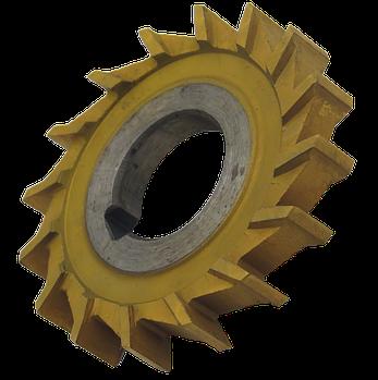 Фреза дисковая трехсторонняя 110х12х32 Р12 прямой зуб, ГОСТ 28527-90