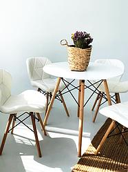 Комплект кухонной мебели TOSKANA  стол и 4 стульчика Черный / Белый Польша