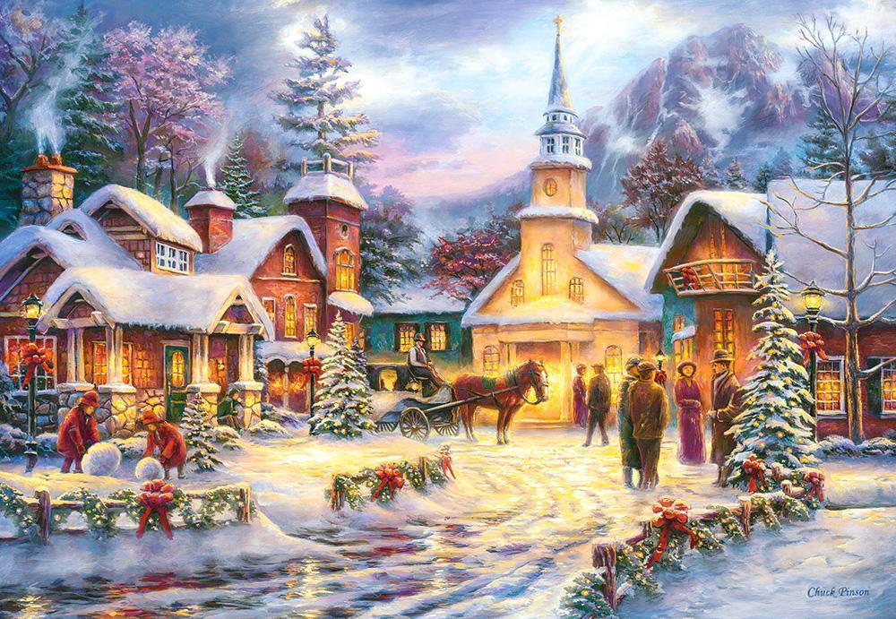 Кастор пазлы 1500 Зимний город 68-47см., C-151646