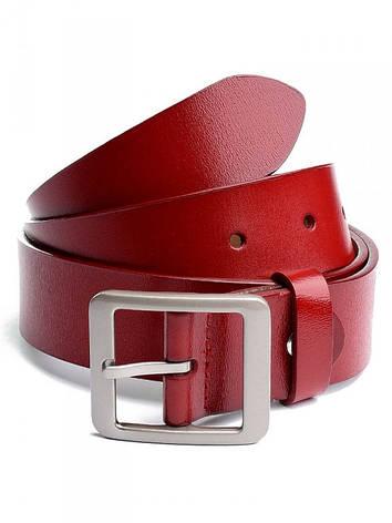 Ремень женский кожаный 670# красный, фото 2